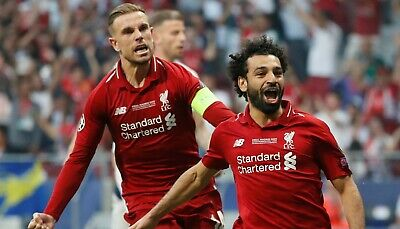 MOHAMED SALAH LIVERPOOL HUGE UNSIGNED 16x12 PHOTO 4 - CHAMPIONS LEAGUE FINAL