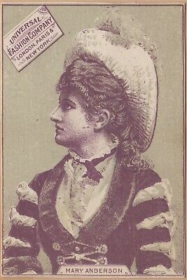 Victorian Trade Card-Universal Fashion Co-San Francisco, CA-Mary Anderson