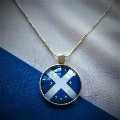 Silver Plated Scotland in Europe Necklace,18 Inch - Made in Scotland