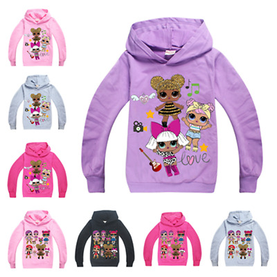 lol surprise dolls Kids Boys Girls Clothes Hoodies Sweatshirts Casual Tops AU