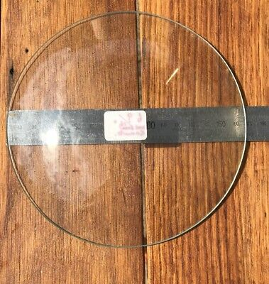 Domed clock dial glass, diameter 168mm, dome approx. 30mm