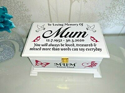 Ashes Casket with Lock Personalised Urn Memory memorial box SCL