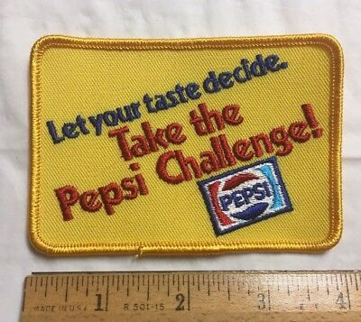 NOS Take the Pepsi Challenge Let Your Taste Decide Yellow Souvenir Patch