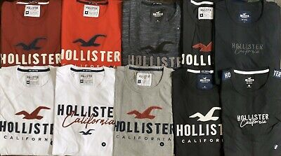 HOLLISTER Printed Applique/ Colorblock Logo Graphic T-Shirt Tee by Abercrombie