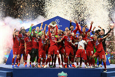Liverpool FC - Champions League Winners 2019 - A1/A2/A3/A4 Poster / Photo Print
