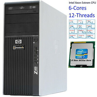 HP Z400 Workstation Xeon X5670 Ram 16GB, SSD 240GB, HDD 250GB Quadro FX580 Win10