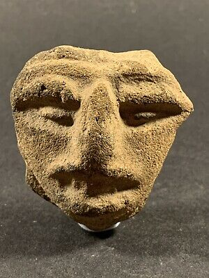 Rare Scarce Ancient Greco Roman Terracotta Head Of Harpokrates Circa 100-300 Ad