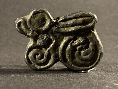 Ancient Scythian Lead Zoomorphic Winged Amulet / Pendant Circa 700-400Bce