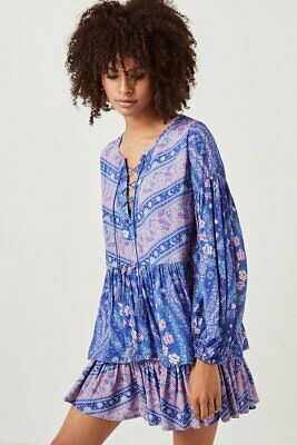 acc67f587 NWT Spell & the gypsy collective City Lights Blouse and mini skirt set  Indigo s