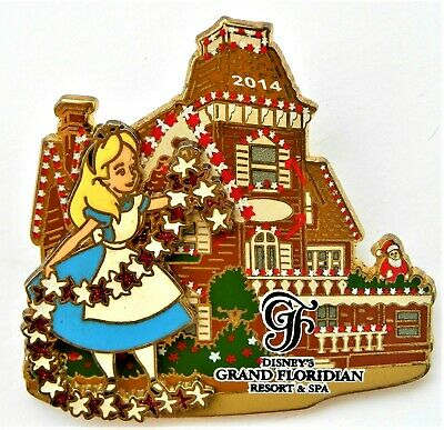 Disney world park Pin 2014 alice gingerbread house grand floridian Le christmas