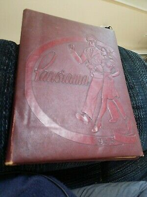 """Vintage """"Panorama"""" Binghamton NY Central High School 1945 Yearbook WWII COVER"""