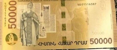 Armenia 50000 50.000 Dram New Hibryd Banknote 2018 Absolutely Unc