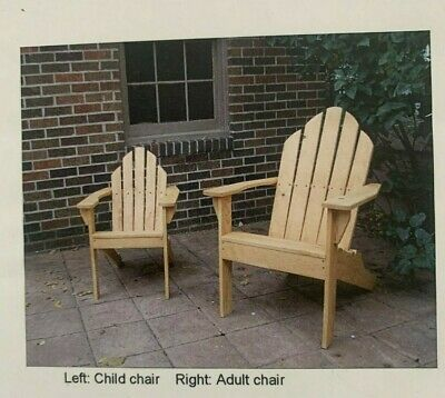 ADIRONDACK CHAIR Adult & Child Size Woodworking Wood Plans Full Size Patterns