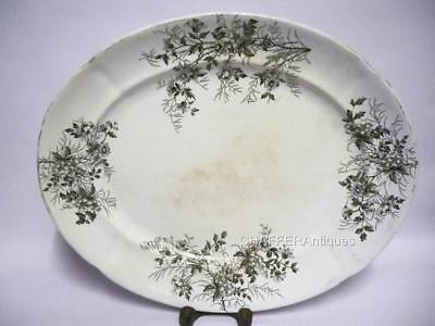 Victorian Mid-19th Century Staffordshire 19 Inch Serving Platter
