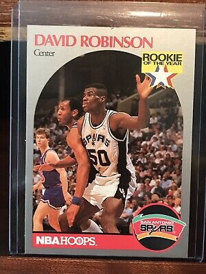 1990 Nba Hoops David Robinson Rookie Of The Year 270 Spurs Free