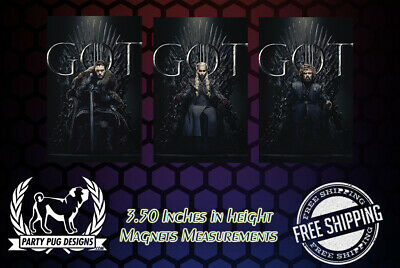 WWE Game Of Thrones Magnets! Set Of 3! LAST ONES!!!