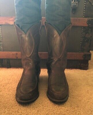 e8efbb51aa4 DOUBLE H WORK Boots Ranchwell Brown Oil Resistant Western Cowboy USA ...