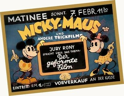 "1935 Micky-Maus + Andere Trickfilme 18""x24"" ART Glossy Photograph Poster Minnie"