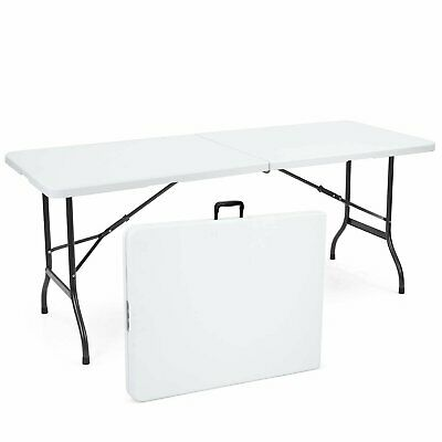 6ft Folding Trestle Table Heavy Duty BBQ Portable Catering Camping Locking Legs