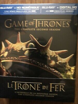 Game of Thrones: The Complete Season 2 Gift Box (Blu-ray Disc, Bilingual)new