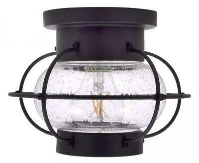 Sylvania 75515 Essex Cage Light, LED, Semi-Flush Mount, Antique Black