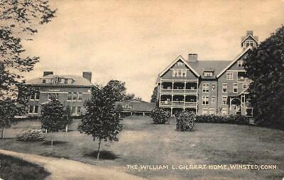 WINSTED, CT Connecticut    WILLIAM L GILBERT HOME    B&W Collotype Co Postcard
