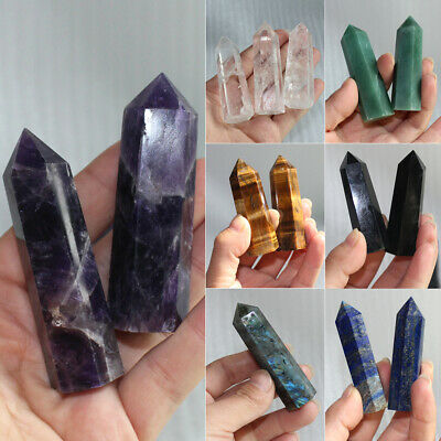 100% Natural Labradorite Fluorite Wand Quartz Crystal Point Healing Obelisk Hot