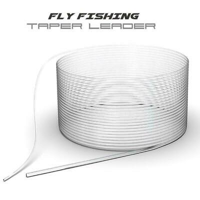 1*Fly Fishing Fluorocarbon Tapered Leader 9FT 0/1/2/3/4/5/6X Leader Line Fa L0H6
