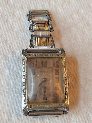 Vintage Art-Deco Windsor  Wind Up Watch with GREAT band for parts / repair