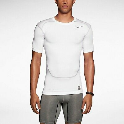 77f0a8d5 MENS NEW Nike Pro Combat Compression 2.0 Core Short Sleeve training Shirt  White