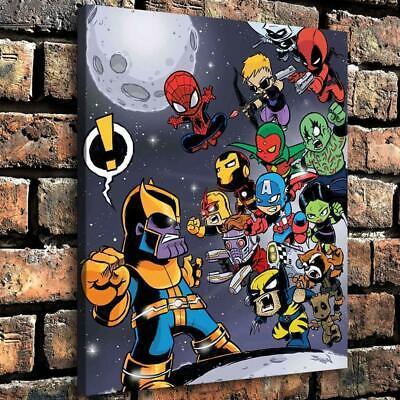 """Cute Avengers Endgame HD Canvas Painting Home Decor Picture Wall art 16""""x18"""""""