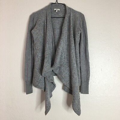 cd59a7f637eb86 Joie Small heathered grey knit cardigan sweater knit wool silk cashmere  blend