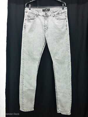 d8bebdfe Zara Mens Denim Jeans Distressed Gray Skinny Stretch Denim Jeans US MX Size  34