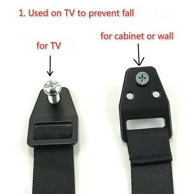 2x TV Cabinet Anti-fall Fixing Strap Anti-Tip Furniture Safe Strap Proofing Kits