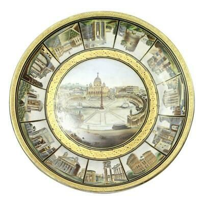19th Century Hand-Painted Italian Grand Tour Porcelain Charger