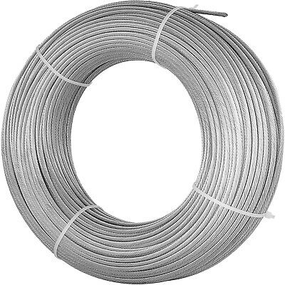 "T316 Stainless Steel Cable Wire Rope,1/8"",7x7,200ft Strand Fishery Reel"