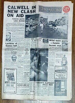 Vintage THE HERALD NEWSPAPER Melbourne Saturday July 30 1966 - 44 Pages 4¢