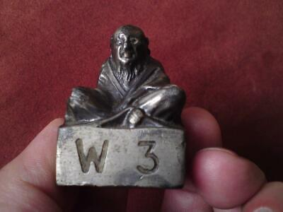 Pewter scroll weight ? Chinese old sage immortal North 4 South 2 East 1 West 3