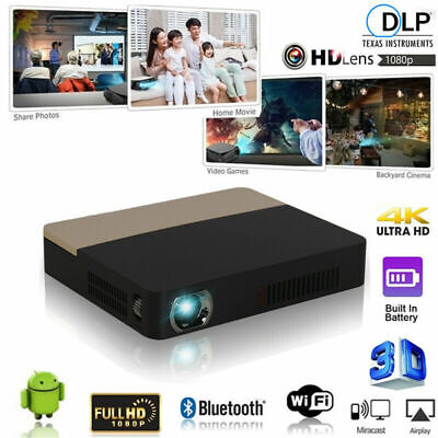 8500 Lumens 4K DLP 3D Home Theater Projector Wifi HD 1080P Video Cinema HDMI SD