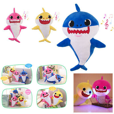 3 Pack Baby Shark Plush LED Plush Toys Music Doll Sing English Song For Gift