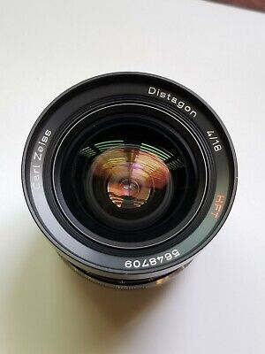 [Near Mint] Carl Zeiss Distagon HFT 18mm f/4 lens for Rollei SL2000 / SL35, QBM