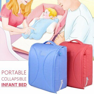 Portable Baby Crib Cot Folding Travel Nursery Infant Sleeping Bed Carry Bag