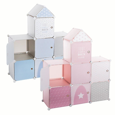Toys Storage Unit Shelves Kids Childrens Room Books Organiser Castle 95x32x109cm