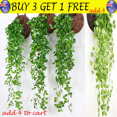 Artificial Fake Silk Flower Vine Hanging Plant Home Garden Wedding Decor TH