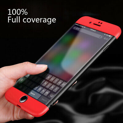 360° Waterproof Dustproof Rubber Phone Case Cover For iPhone 6 6s 7 8 Plus 5 X