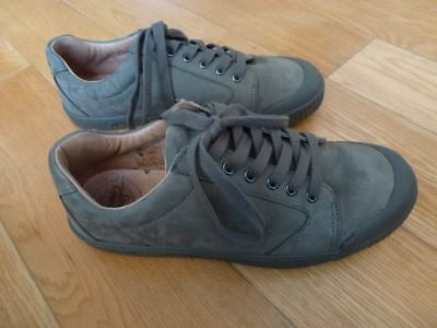 SPRING COURT CHAUSSURES Baskets T. 42 Nubuck Kaki G2 Clay Sneakers EX TBE