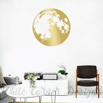 Moon Wall Decal, Moon Phases Decor, Gold Moon Phases, Modern Decals ga105