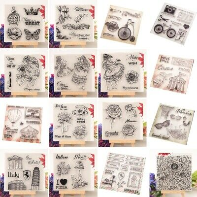 DIY Transparent Silicone Clear Rubber Stamp Cling Diary Scrapbooking Decor