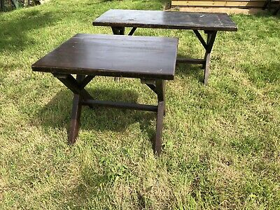 Two Solid Pine Pub Tables (Cafe / Bar / Bistro / Restaurant Tables)