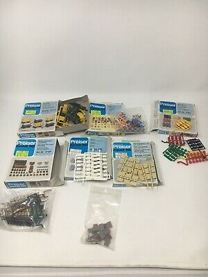 VINTAGE LOT OF 6 PACKS HO SCALE PREISER ASSORTED  ACCESSORIES Opened And Sealed